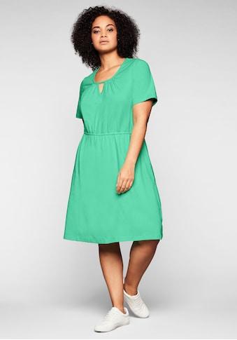 Sheego Jerseykleid, mit Cut-out am Ausschnitt kaufen