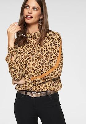 Damenbluse mit Leopardprint