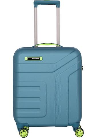 travelite Hartschalen-Trolley »Vector, 55 cm, Petrol/Limone«, 4 Rollen kaufen