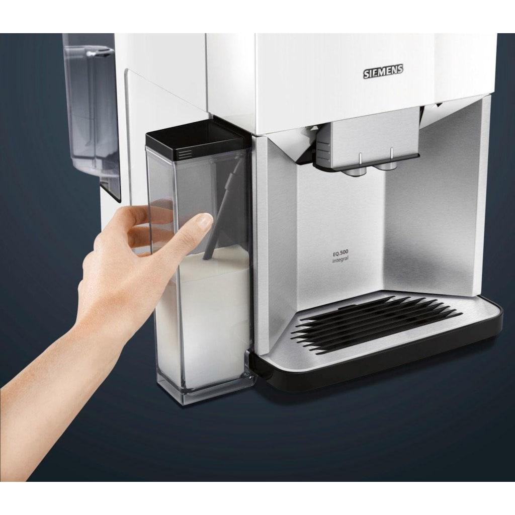 SIEMENS Kaffeevollautomat »EQ.500 integral TQ507D02«, einfache Bedienung, integrierter Milchbehälter, zwei Tassen gleichzeitig