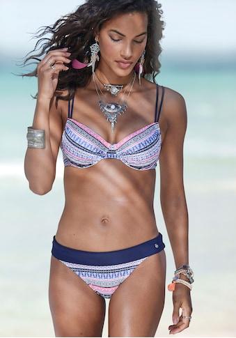 s.Oliver Beachwear Bikini-Hose »Barcelona«, mit Umschlagbund in Kontrastfarbe kaufen