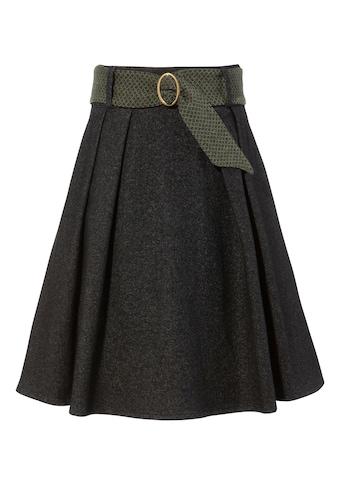 H. Moser Trachtenrock, Damen, mit kontrastfarbigem Stoffgürtel und Metallschließe kaufen