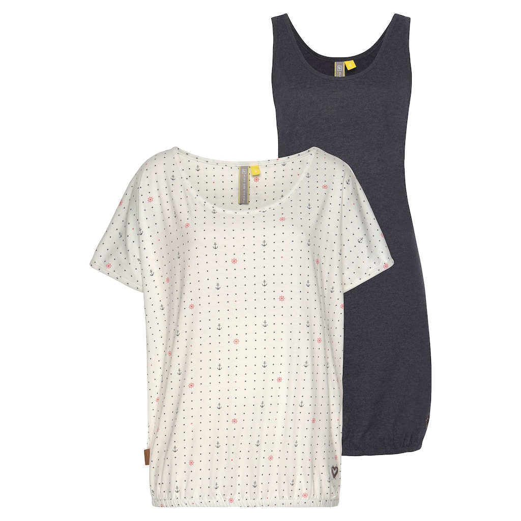 Alife & Kickin Jerseykleid »SunnyAK«, (Set, 2 tlg., mit T-Shirt), sommerlicher Zweiteiler - Kleid & Shirt