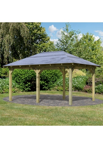 Karibu Holzpavillon »Mailand«, BxT: 345x485 cm kaufen