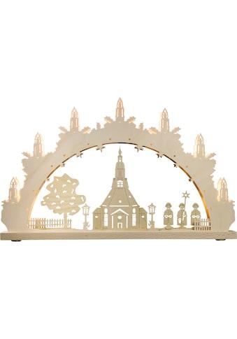 Weigla Schwibbogen »Seiffener Kirche«, 7-flammig kaufen