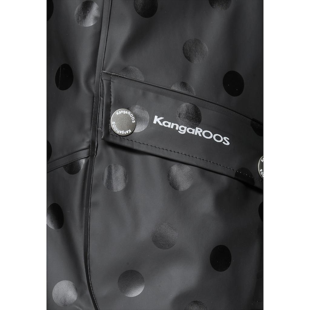 KangaROOS Regenjacke, mit reflektierenden Logo-Drucken