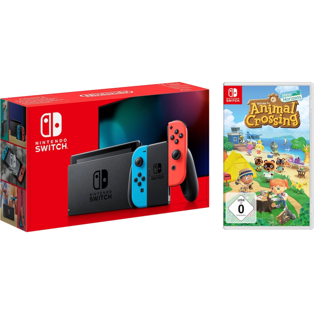 Nintendo Switch Konsolen-Set, inkl. Animal Crossing New Horizons