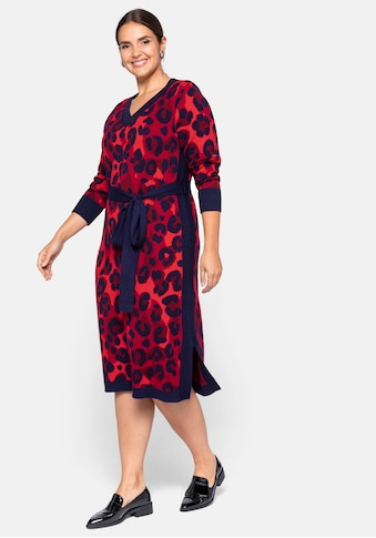 Sheego Strickkleid, mit Animal Look (Jacquard Muster) kaufen