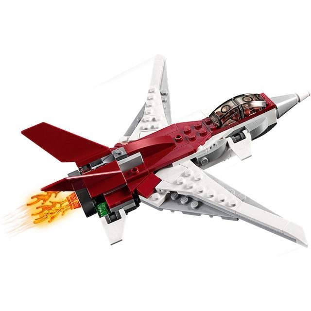 """LEGO® Konstruktionsspielsteine """"Flugzeug der Zukunft (31086), LEGO® Creator"""", Kunststoff, (157-tlg.)"""