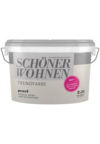 SCHÖNER WOHNEN-Kollektion Wand- und Deckenfarbe »Trendfarbe Pearl, matt« kaufen