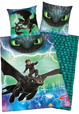 Kinderbettwäsche »Dragons Abenteuer«, mit Glow in the Dark Effekt kaufen