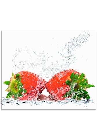 Artland Küchenrückwand »Erdbeeren mit Spritzwasser« kaufen