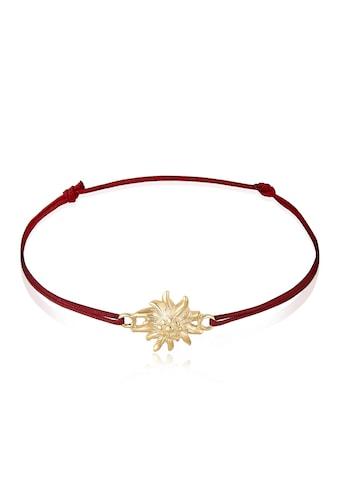Elli Armband »Edelweiss Blume Wiesn Trachten Nylon 925 Silber« kaufen