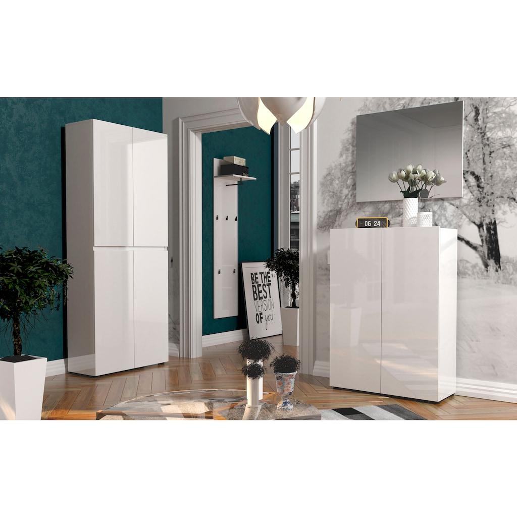 KITALY Schuhschrank »Mister«, Breite 80 cm, Höhe 200 cm, 4 Türen
