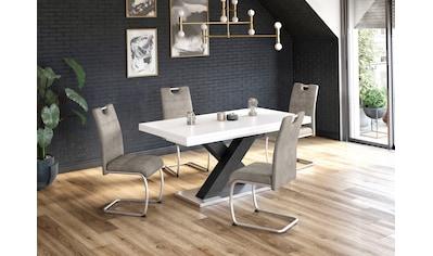 Esstisch »Komfort C«, mit X-Gestell in graphit und mit Auszugsfunktion, Breite 180-280 cm kaufen