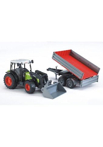 Bruder® Spielzeug-Traktor »Claas Nectis 267 F mit Frontlader und Bordwandanhänger«, Made in Germany kaufen