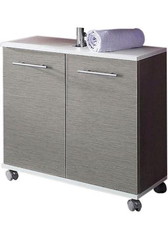 Schildmeyer Waschbeckenunterschrank »Rhodos«, Breite 60 cm, verstellbarer Einlegeboden, Metallgriffe, 2 Türen kaufen