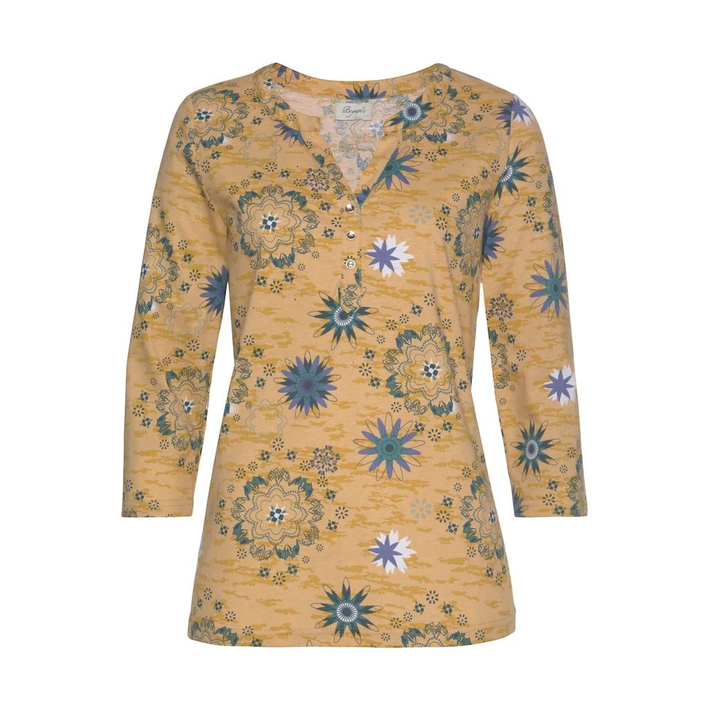 Boysen's Langarmshirt, mit kleinen Glitzer - Steinchen vorne
