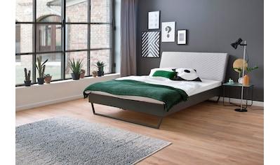 meise.möbel Metallbett »Boston«, Polsterkopfteil mit Rautenstanzung, diverse Fußvarianten möglich kaufen