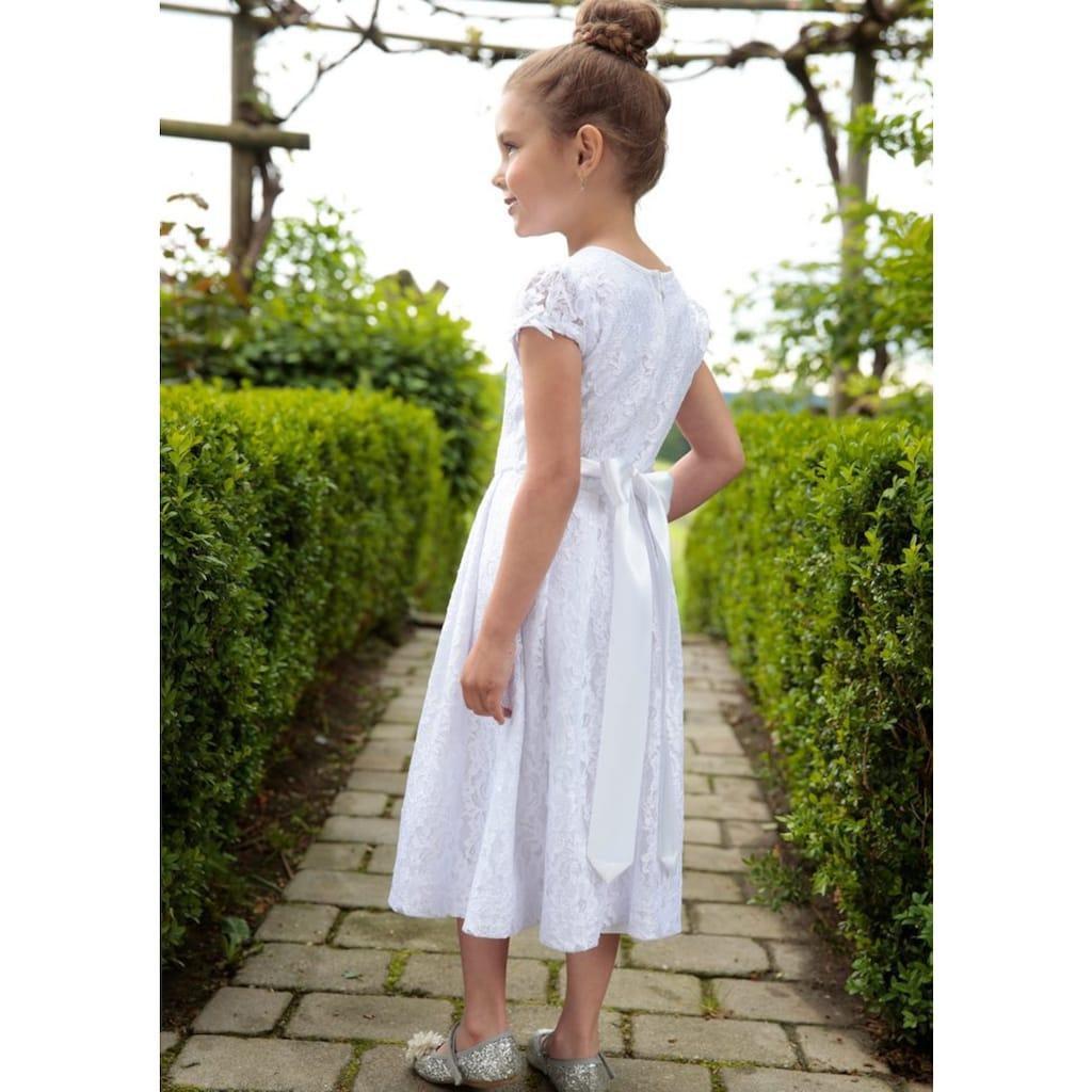 Kinder Kleid aus Spitze mit Satinband, Turi Landhaus