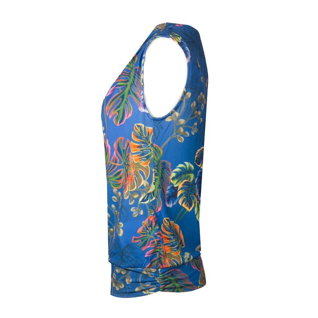 bianca Print-Shirt »TILA«, mit leichtem Wasserfallkragen und Allover Print