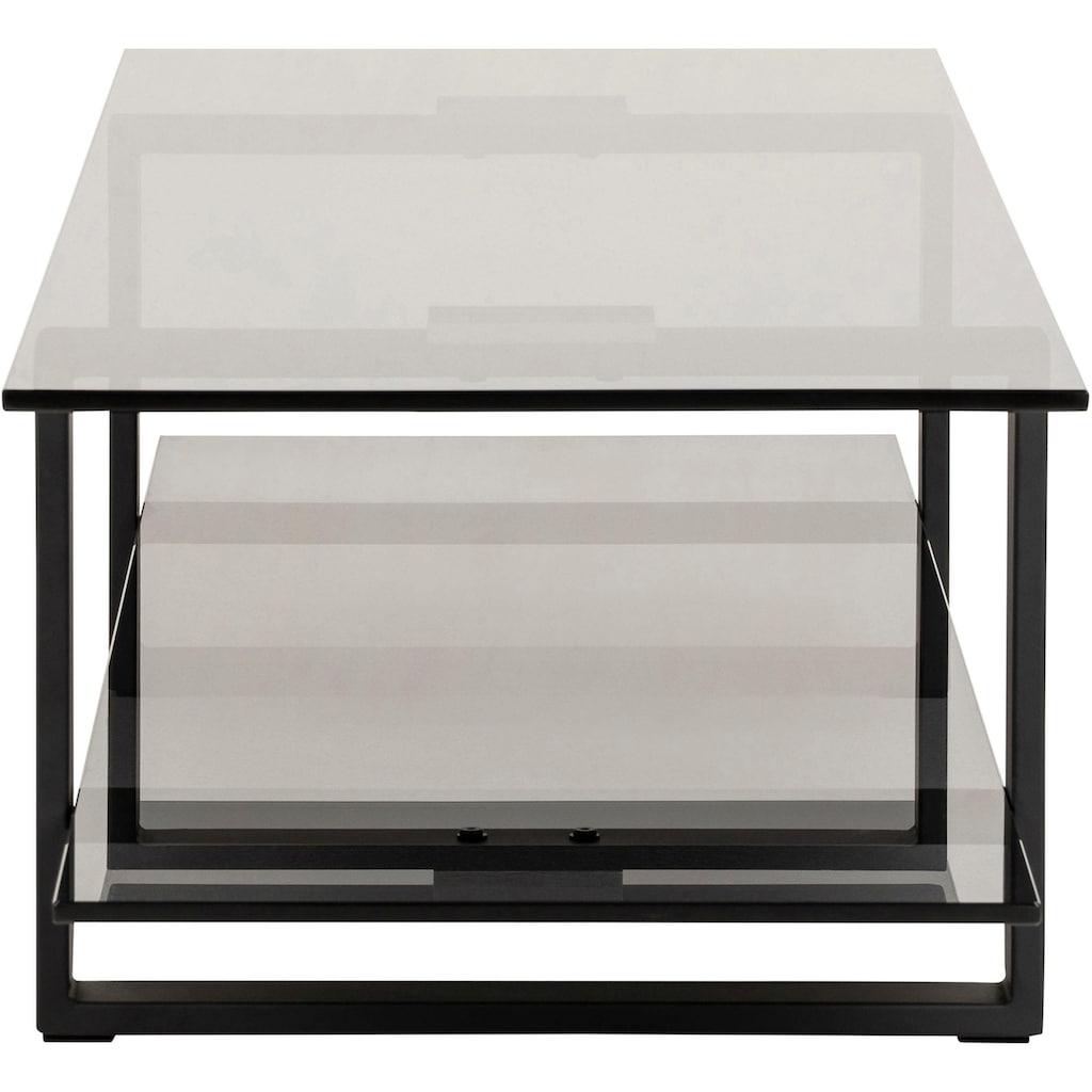 andas Konsolentisch »Karolina«, mit einer Rauchglasplatte und einem schönen Metallgestell, Breite 120 cm