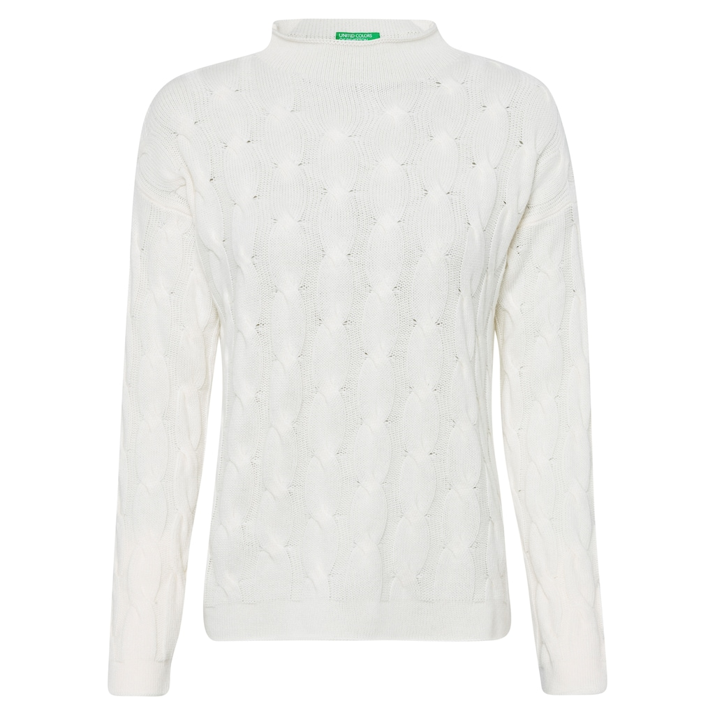 United Colors of Benetton Strickpullover, mit Zopfstrickmuster