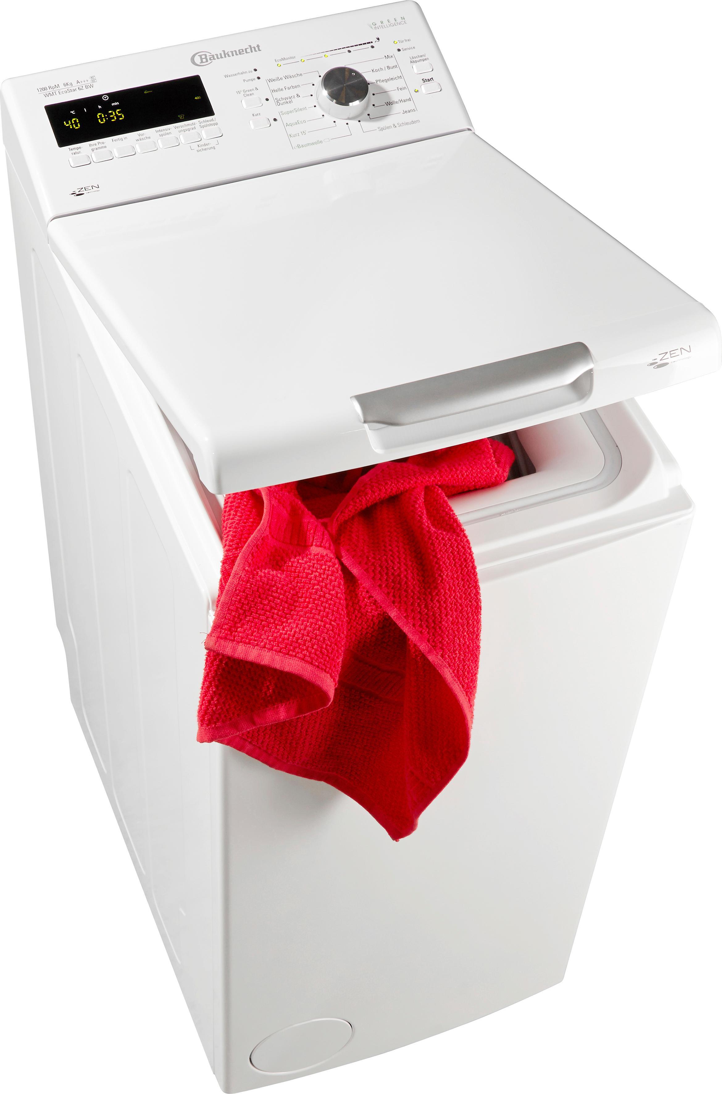 bauknecht waschmaschine toplader wmt ecostar 6z bw jetzt. Black Bedroom Furniture Sets. Home Design Ideas