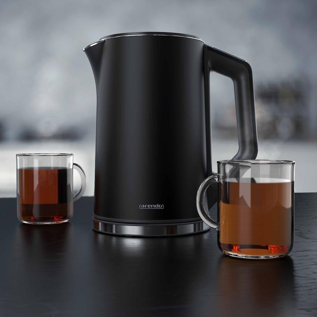 Arendo Edelstahl Wasserkocher mit Temperatureinstellung