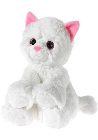 Heunec® Kuscheltier »Glitter Kitty Katzenbaby Weiß, 24 cm« kaufen