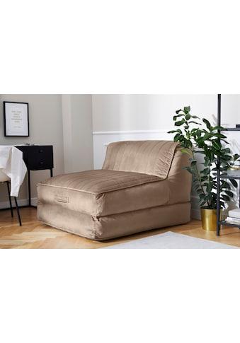 Leonique Relaxsessel »Bailee«, Loungesessel mit Schlaffunktion und Pouf-Funktion. kaufen