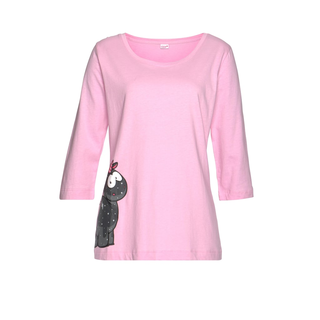 NICI Pyjama, mit Einhorn-Print und gepunkteter Schlafhose
