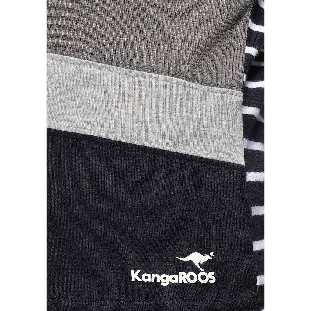 KangaROOS Langarmshirt, in tollem Color-Blocking-Design