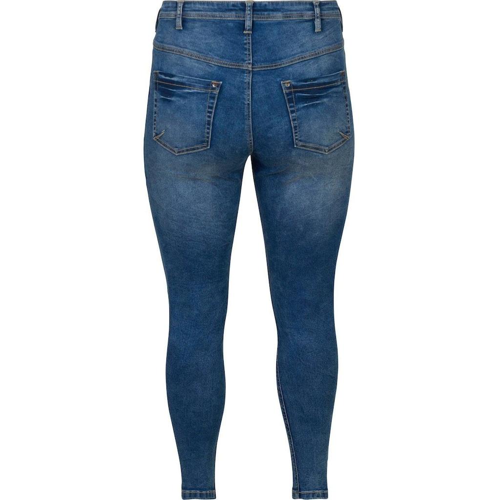 Zizzi Slim-fit-Jeans »Amy«, mit Reißverschluß am Beinabschluß