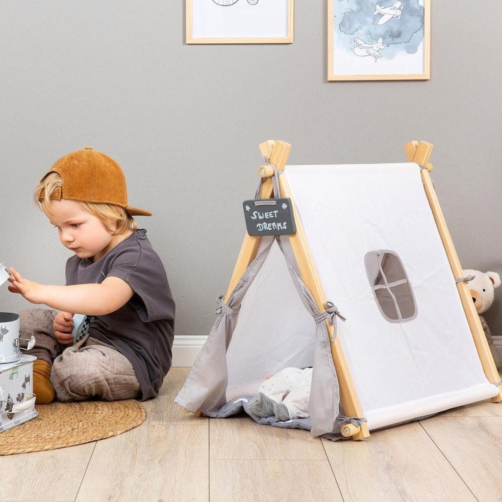 MUSTERKIND® Puppen Zelt »Tipi Barlia, natur/weiß/grau«