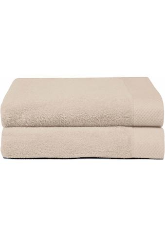 Seahorse Handtücher »Pure«, (2 St.), mit Strukturbordüre kaufen