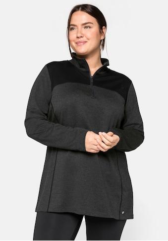 Sheego Sweatshirt, aus Funktionsmaterial, mit Stehkragen kaufen