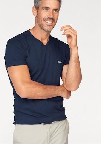 Lacoste V-Shirt, aus reiner Baumwolle kaufen