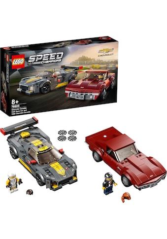 LEGO® Konstruktionsspielsteine »Chevrolet Corvette C8.R & 1968 Chevrolet Corvette... kaufen