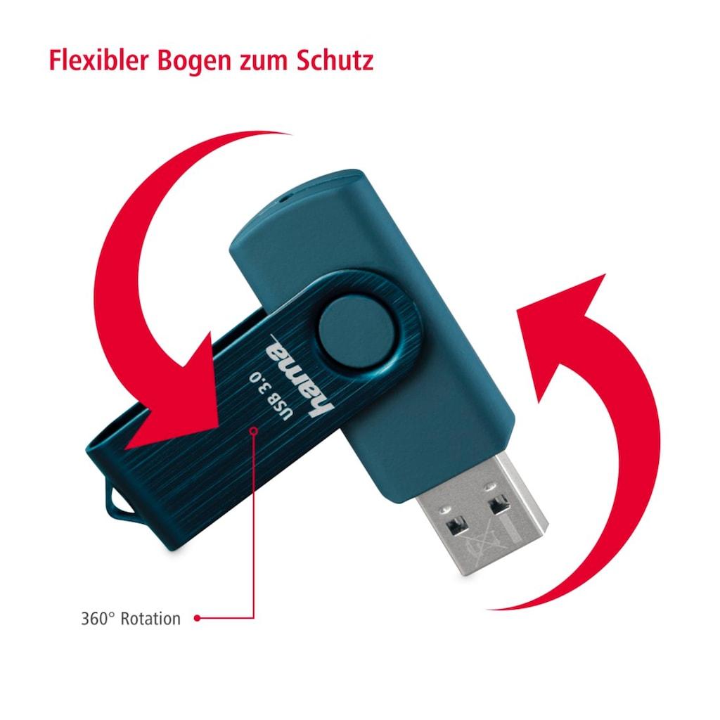 Hama USB-Stick »USB-Speicherstick«, ( USB 3.0 Lesegeschwindigkeit 70 MB/s), USB 3.0, 32GB, 70MB/s, Petrolblau