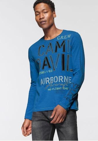 CAMP DAVID Langarmshirt, mit großem Logoschriftzug kaufen