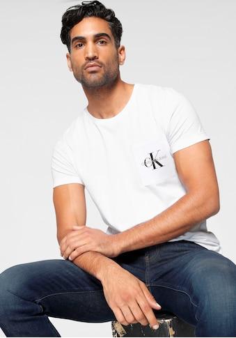 Calvin Klein Jeans T-Shirt »MONOGRAM POCKET SLIM TEE« kaufen