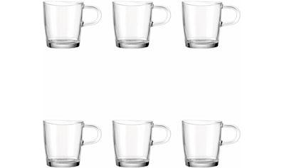 LEONARDO Becher »Loop«, (Set, 6 tlg.), für Tee und Kaffee, 6-teilig kaufen