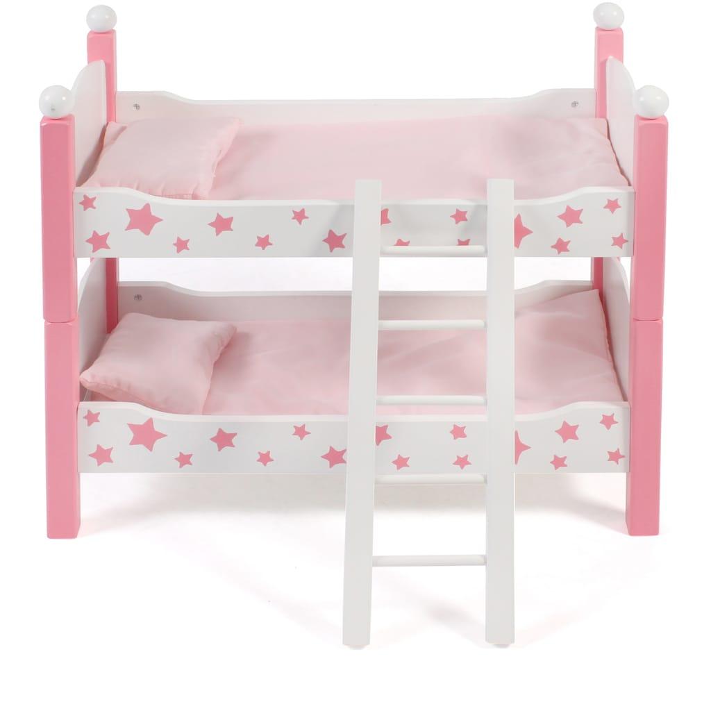 CHIC2000 Puppenbett »Stars Pink«, auch als zwei Einzelbetten verwendbar