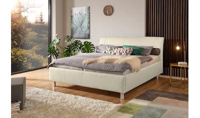 ADA trendline Polsterbett »Fossey«, Lederbett wahlweise mit Matratze und Lattenrost, in verschiedenen Größen und Härtegraden kaufen