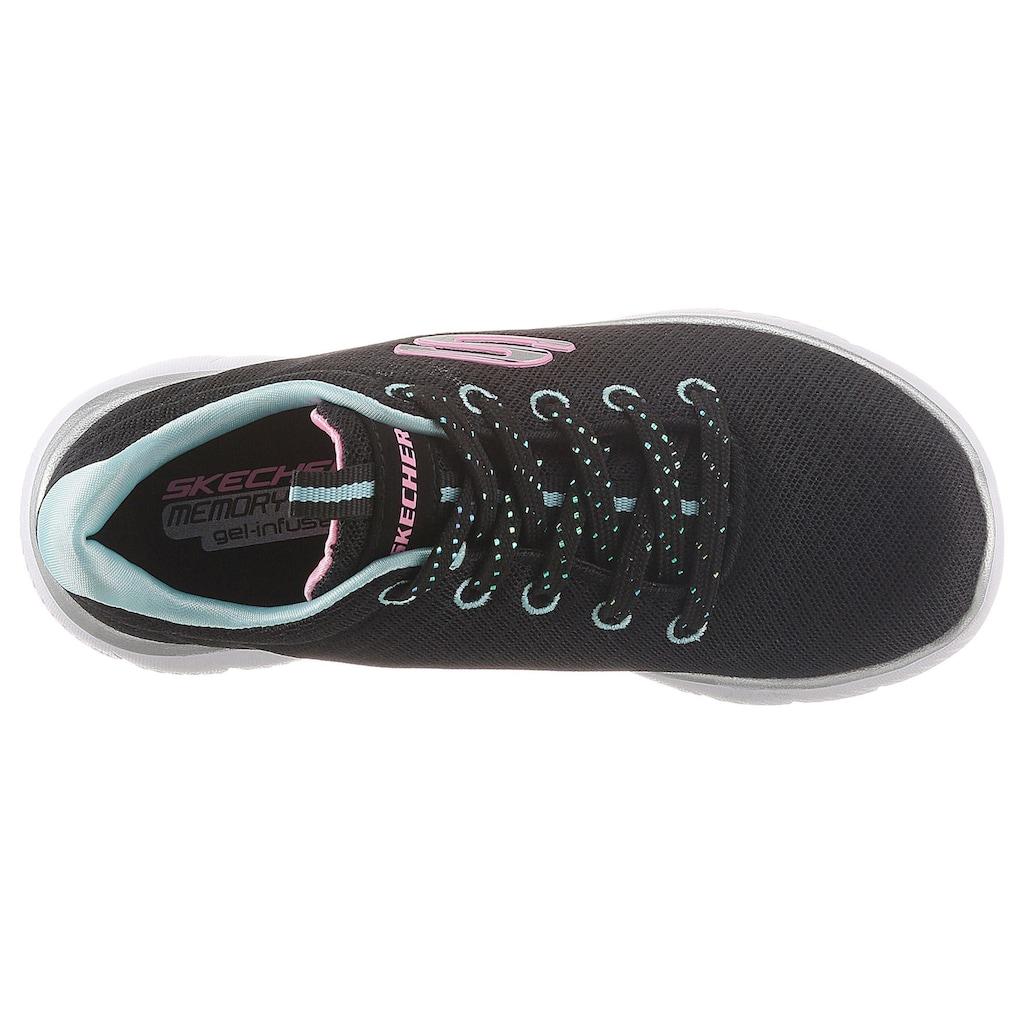 Skechers Kids Sneaker »Summits«, mit farbiger Logoapplikation