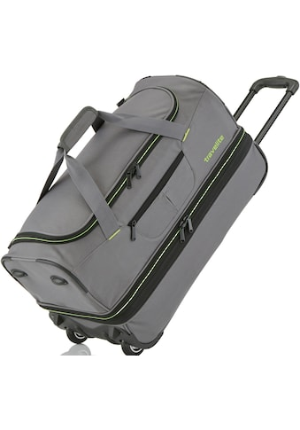travelite Reisetasche »Basics, 70 cm, grau/grün«, mit Volumenerweiterung kaufen