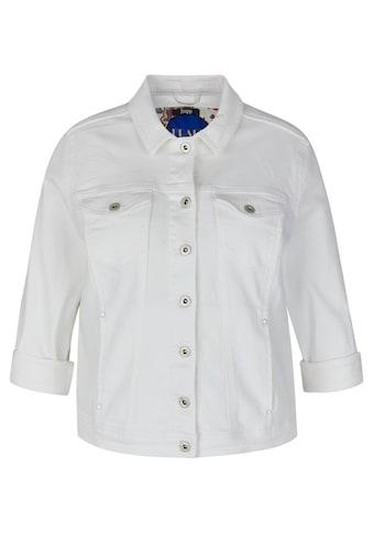 FRAPP Jeansjacke, mit unifarbenem Stoff kaufen
