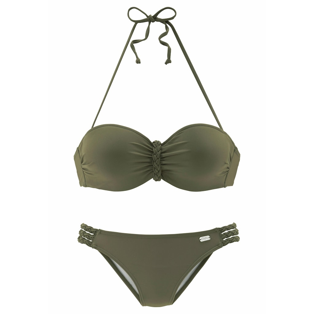 Buffalo Bügel-Bandeau-Bikini, mit Flecht-Detail