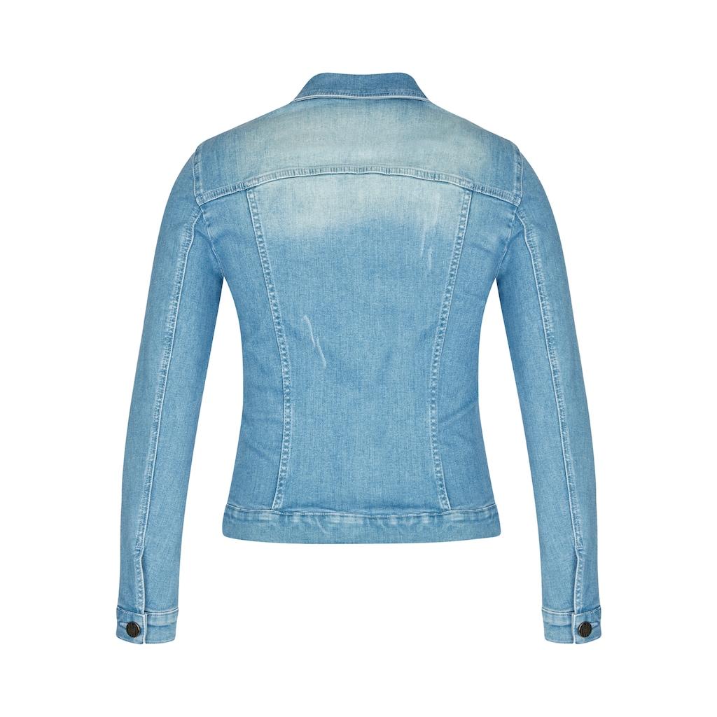 LeComte Jeansjacke, mit Stickerei und langen Ärmeln